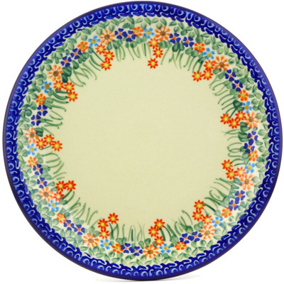 "Polish Pottery Plate 11"" Blissful Daisy"