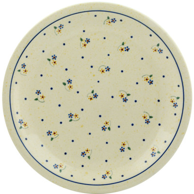"Polish Pottery Plate 11"" Country Meadow"