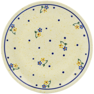 "Polish Pottery Plate 6"" Country Meadow"