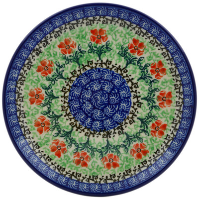 "Polish Pottery Plate 6"" Maraschino"