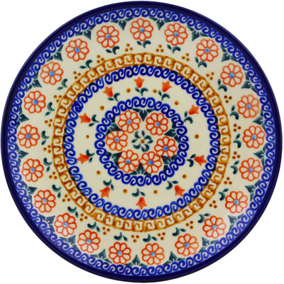 "Polish Pottery Plate 7"" Amarillo"