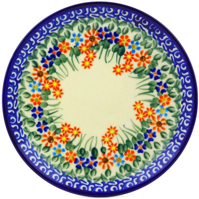 "Polish Pottery Plate 7"" Blissful Daisy"