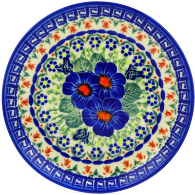 "Polish Pottery Plate 7"" Brilliant Butterfly Popp UNIKAT"