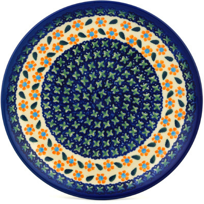 "Polish Pottery Plate 7"" Daisy Stitches"