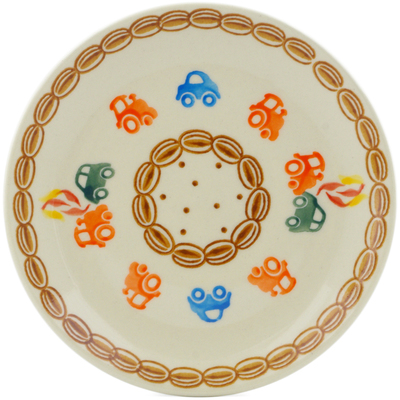 "Polish Pottery Plate 7"" Go Car"