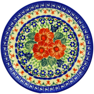 "Polish Pottery Plate 7"" Happiness UNIKAT"