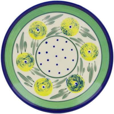 "Polish Pottery Plate 7"" Limon Swirl"