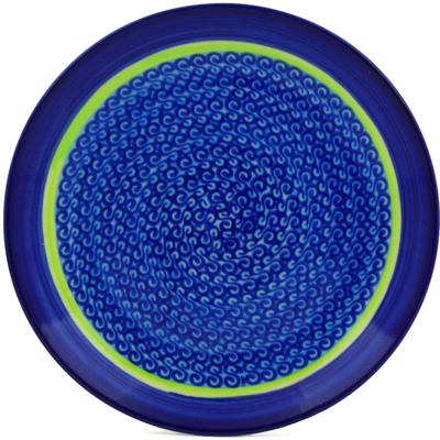 "Polish Pottery Plate 7"" Midnight Eclipse"