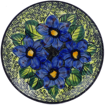 "Polish Pottery Plate 7"" Midnight Glow UNIKAT"