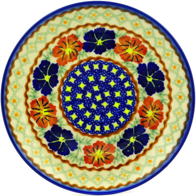 "Polish Pottery Plate 7"" Paradise Poppy"