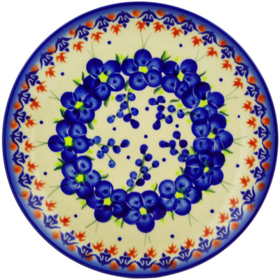 "Polish Pottery Plate 7"" Passion Poppy"