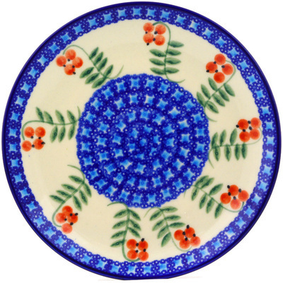 "Polish Pottery Plate 7"" Red Berries"
