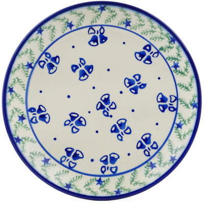 "Polish Pottery Plate 7"" Royal Bells"
