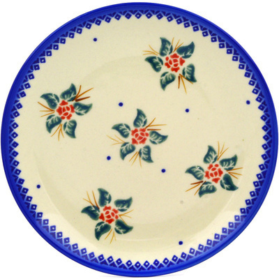 "Polish Pottery Plate 7"" Simple Christmas"