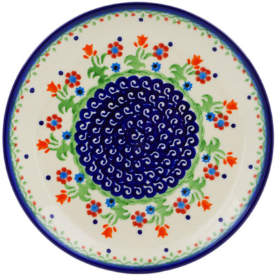 "Polish Pottery Plate 7"" Spring Flowers"