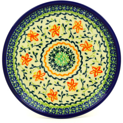 "Polish Pottery Plate 7"" Starfish UNIKAT"