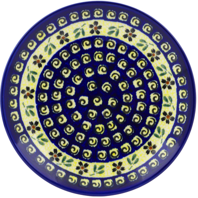 "Polish Pottery Plate 7"" Stargazer Fields"