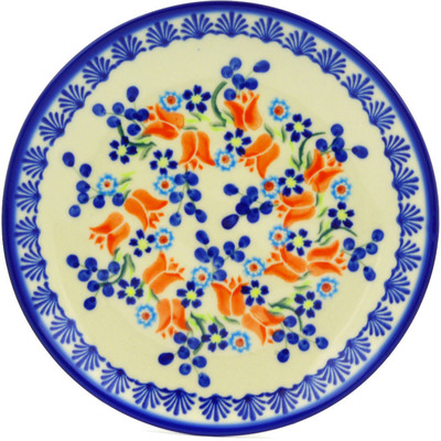 "Polish Pottery Plate 7"" Tulip Berries"