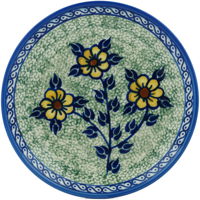 "Polish Pottery Plate 7"" Wild Sunflowers"