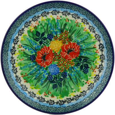"Polish Pottery Plate 8"" Country Garden UNIKAT"