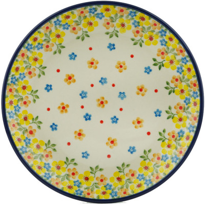 "Polish Pottery Plate 8"" Country Spring"