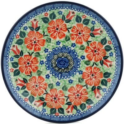 "Polish Pottery Plate 8"" Glorious Decoration UNIKAT"
