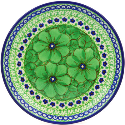 "Polish Pottery Plate 8"" Key Lime Dreams UNIKAT"