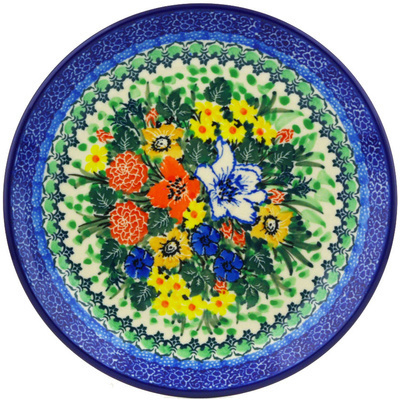 "Polish Pottery Plate 8"" Lily Meadow UNIKAT"