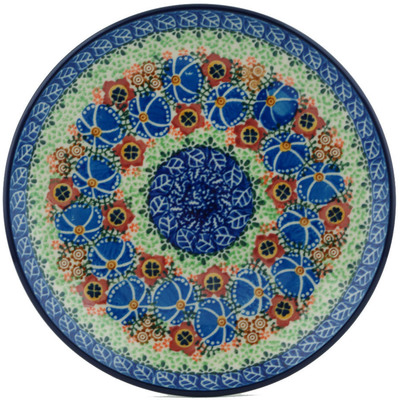 "Polish Pottery Plate 8"" Magnificent Trope UNIKAT"