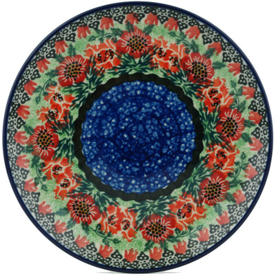"Polish Pottery Plate 8"" Marvellous Sequence UNIKAT"