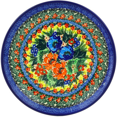 "Polish Pottery Plate 8"" Passion Meadow UNIKAT"