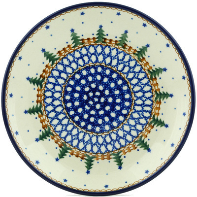 "Polish Pottery Plate 8"" Pocono Pines"