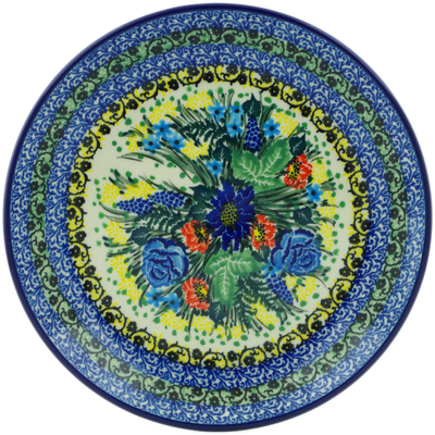 "Polish Pottery Plate 8"" Trapped With Beauty UNIKAT"