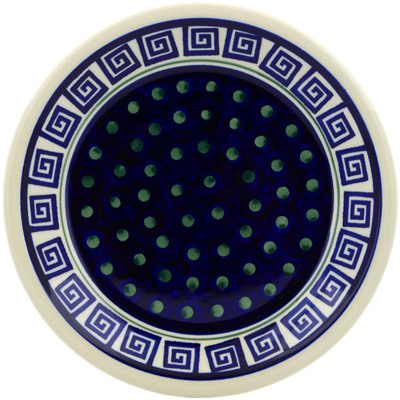 "Polish Pottery Plate 9"" Greek Key"