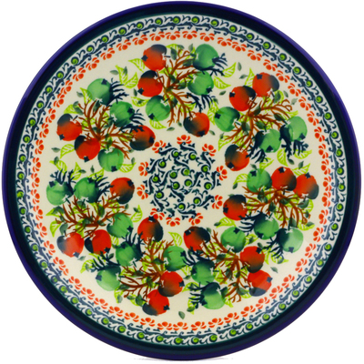 "Polish Pottery Plate 9"" Red And Green Berries"