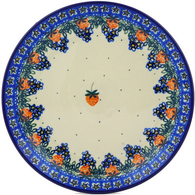 "Polish Pottery Plate 9"" Strwaberry Fever"