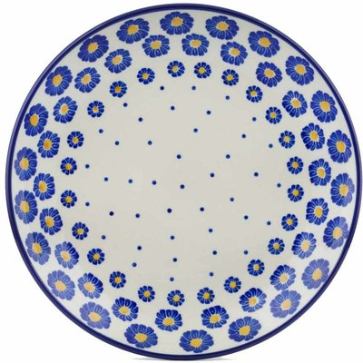 "Polish Pottery Plate 9"" Wreath Of Blue"