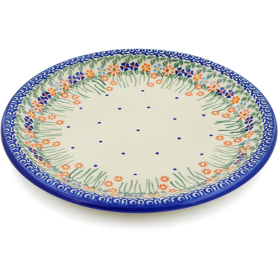 "Polish Pottery Platter 13"" Blissful Daisy"