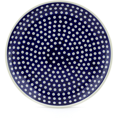 "Polish Pottery Platter 13"" Blue Eyes"