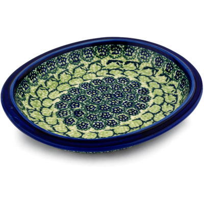 "Polish Pottery Platter 8"" Emerald Forest"