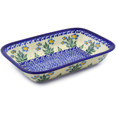 Polish Pottery Rectangular Baker 9""