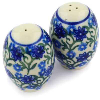 "Polish Pottery Salt and Pepper Set 2"" Blissful Beauty"