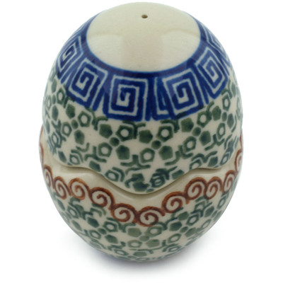 "Polish Pottery Salt and Pepper Set 3"" Mediterranean Sea"