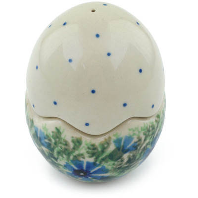"Polish Pottery Salt and Pepper Set 3"" Polish Wreath"