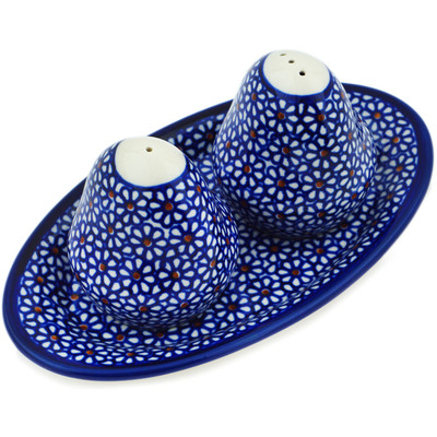 "Polish Pottery Salt and Pepper Set 7"" Daisy Dreams"