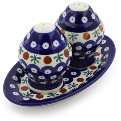 "Polish Pottery Salt and Pepper Set 7"" Mosquito"