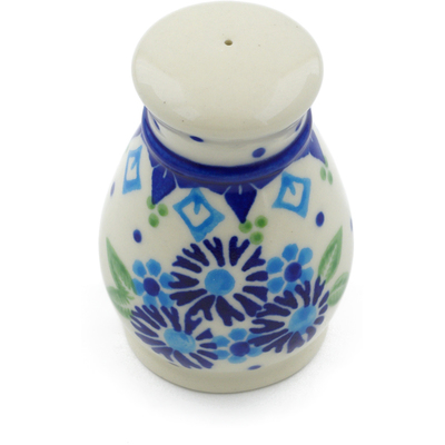 "Polish Pottery Salt Shaker 3"" Aster Patches"
