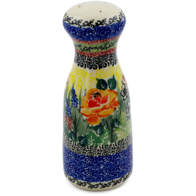 "Polish Pottery Salt Shaker 6"" Copper Rose Meadow UNIKAT"