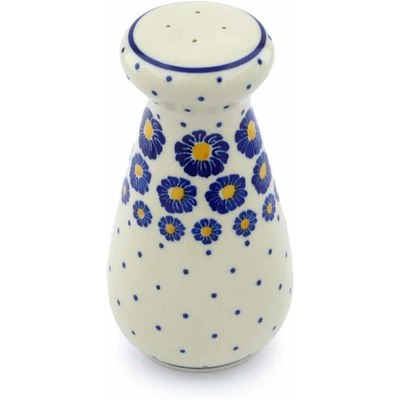 "Polish Pottery Salt Shaker 6"" Flower Pads"