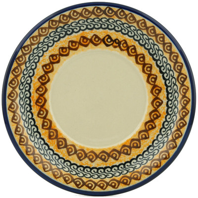 "Polish Pottery Saucer 6"" Bright Beauty UNIKAT"